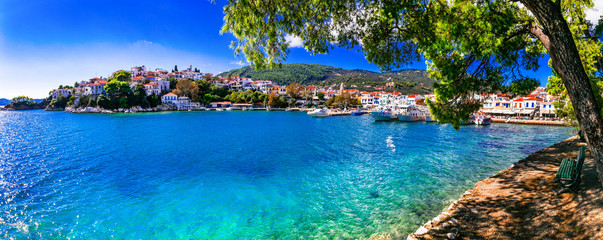 beautiful greek islands- Skiathos. Northen Sporades of Greece Fototapete