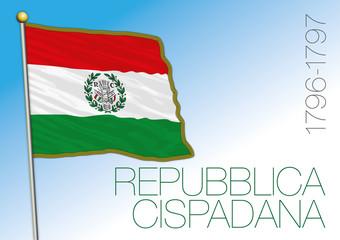 Cispadana Republic, historical flag, Italy