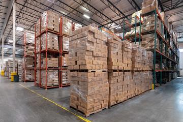 Logistics warehouse interior