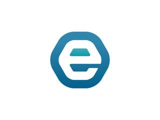 Fototapeta E letter vector logo design obraz