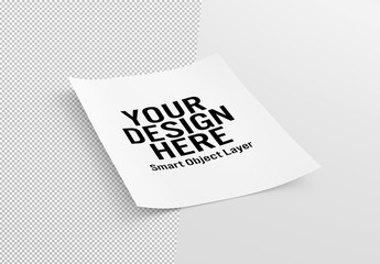 Isolated Flyer Mockup