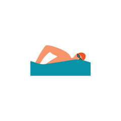 swimming icon, vector swimming pool on white background, water swim sport. Vector illustration.