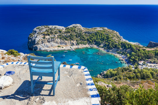 Perfect place to admire Anthony Quinn bay and Mediteranean sea (Rhodes, Greece)