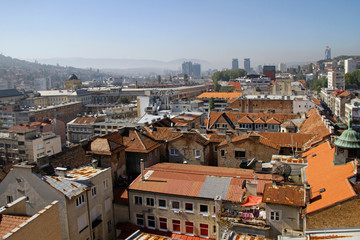 View over the city of Sarajevo, Bosnia and Herzegovina