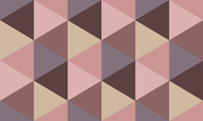 WGeometric hexagon pattern in pink tones