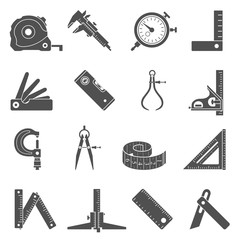 Black Icons - Measuring Tools