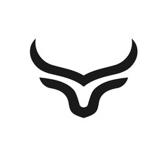 creative and simple bulls horn logo vector