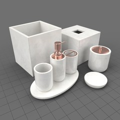 Modern bathroom set