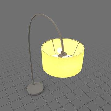 Illuminated mid century modern floor light