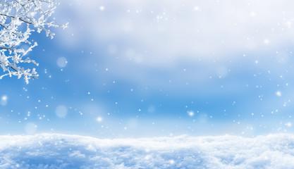 winterlandschaft schnee hintergrund