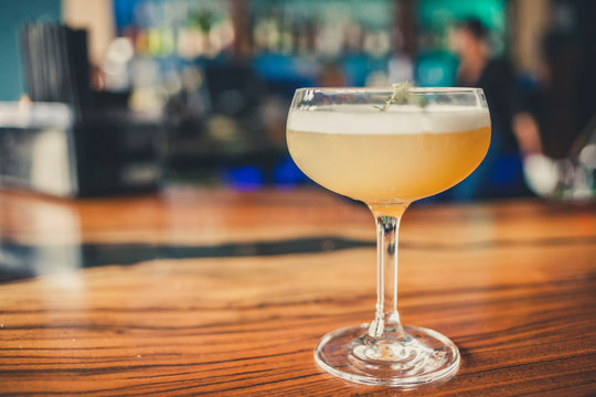 Cocktails Drinks on Bar Top
