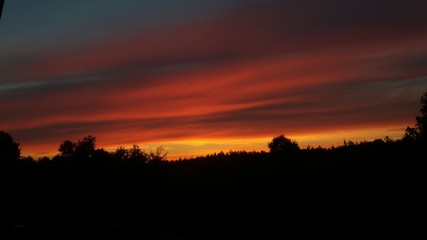 Photo sur Aluminium UFO Sunset