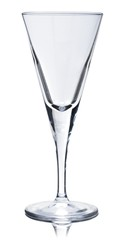 Empty Champagne Glass Isolated