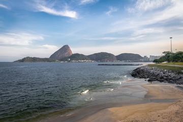 Marina da Gloria Beach and Sugar Loaf Mountain on background - Rio de Janeiro, Brazil