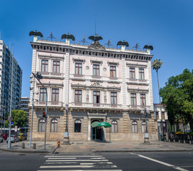 Catete Palace facade, the former presidential palace now houses the Republic Museum - Rio de Janeiro, Brazil