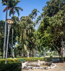 Catete Palace Garden, the former presidential palace now houses the Republic Museum - Rio de Janeiro, Brazil