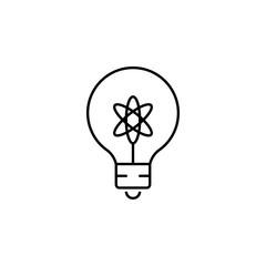 light bulb icon. Element of science illustration. Thin line illustration for website design and development, app development. Premium outline icon