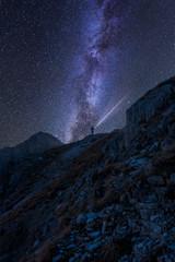 Milchstraße in den Alpen