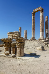 Ruins in citadel of Amman - Jordan