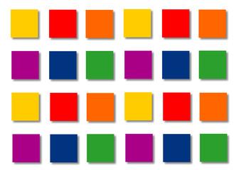 pancartes,colrées étiquattes ,icônes de couleurs