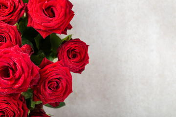 Bunch of Red Roses for St Valentines Day