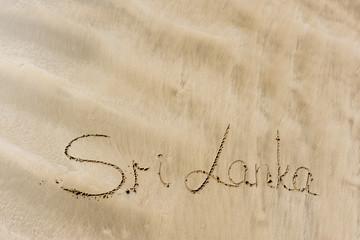 The inscription on the sand Sri Lanka