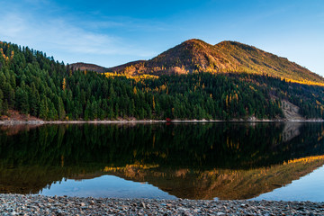 Sullivan Lake in the Colville National Forest, Washington State, USA