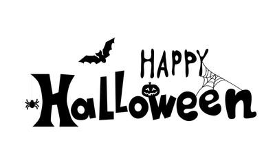 Happy Halloween text banner Vector Creative lettering