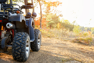 Four wheeler in the nature