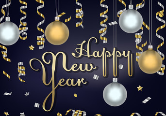 New year 2019 greeting corporate cards in vector. Banner celebration.