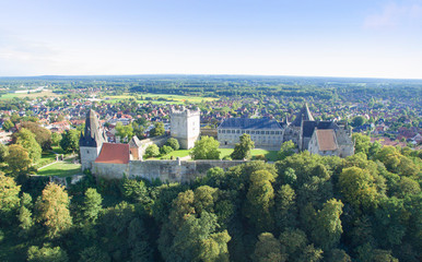 Acrylic Prints Historical buildings Aerial view on the Bad Bentheim castle.