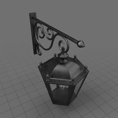 Cast iron wall lamp 1