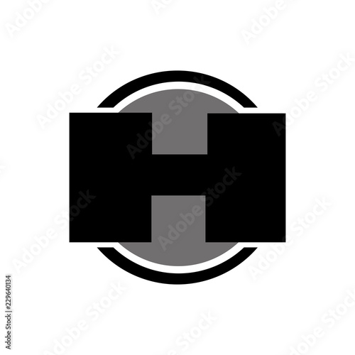 55c87b1cf275 Letter H logo icon design template elements. Abstract vector icon ...