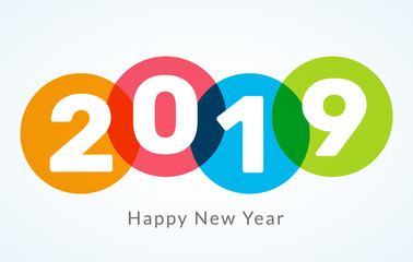 2019 Happy New Year background creative design card, flyer, invitation, posters, brochure, banners, calendar