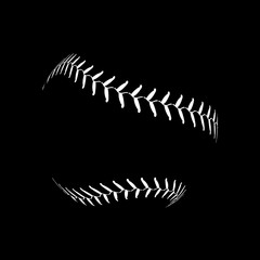 Baseball lace ball illustration isolated symbol. Vector baseball background sport design
