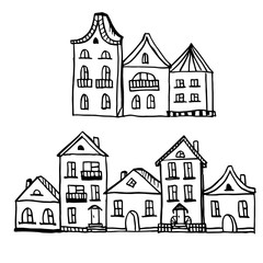Doodle home is different black outline