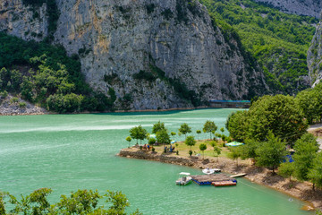 Albania, Diber County, Lake Shkopet