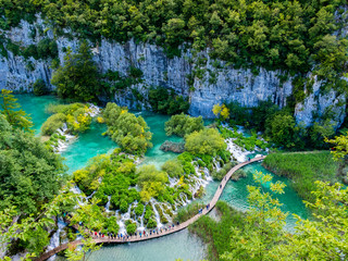 Croatia, Lika-Senj, Osredak, Plitvice Lakes National Park