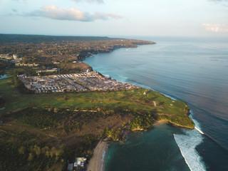 Indonesia, Bali, Aerial view of Balangan beach