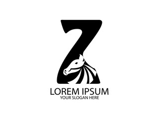 The logo design is the head of zebra in combination with the letter  Z