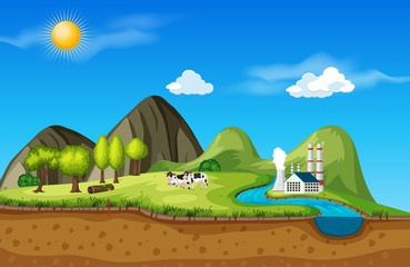 Moutain land nature scene