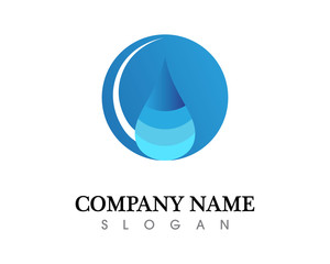 water drop Logo Template vector illustration design
