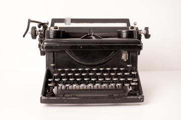 Vintage Metal Typewriter, Isolated in Studio