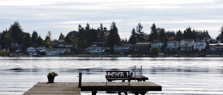 October Morning on Lake Meridian Kent, Washington USA