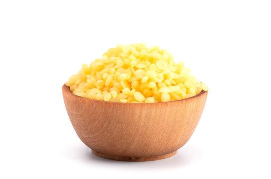 Bowl of Natural Yellow Beeswax Pearls