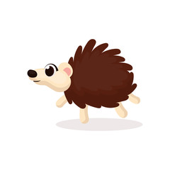 Illustration of Hedgehog Character with Cartoon Style