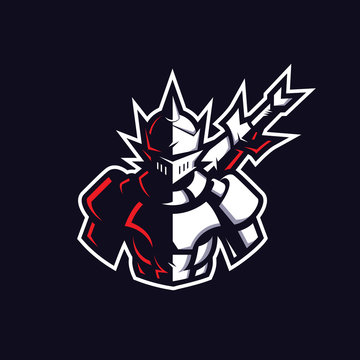 Knight mascot gaming logo