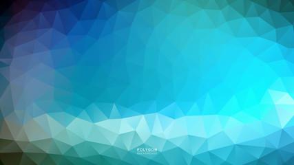 Polygon Lighting Blue Shade