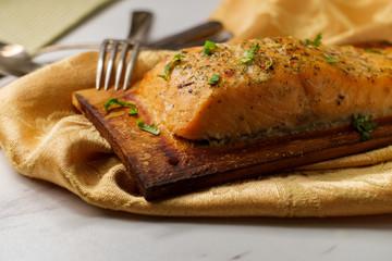 Citrus Salmon Cedar Plank