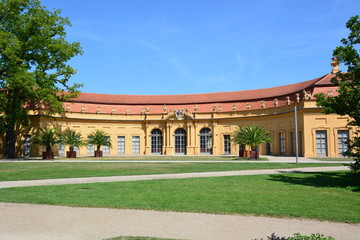 Historical  Conservatory (Orangerie) in the  city of Erlangen,  ( Bavaria),  Germany